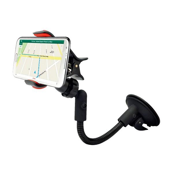 Muvit muchl0035 negro soporte de coche universal con ventosa para móvil hasta 6''