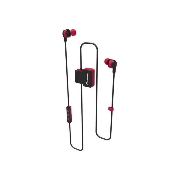Pioneer se-cl5bt rojo auriculares inalámbricos bluetooth diseño en clip con micrófono ipx4