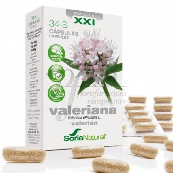 34-S VALERIANA RETARD 30 CAPS SORIA NATURAL