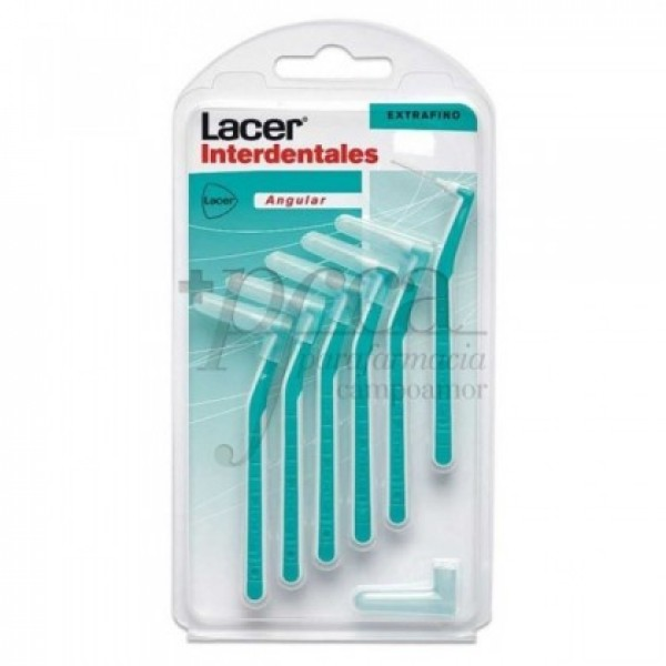 LACER CEPILLO INTERDENTAL EXTRAFINO ANGULAR 6U