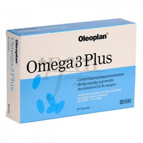 OMEGA 3 PLUS 60 CAPS OLEOPLANT