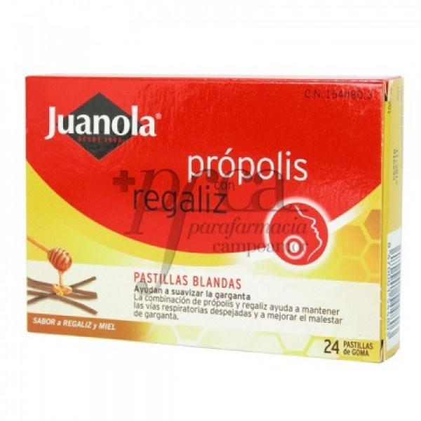 JUANOLA PROPOLIS REGALIZ PASTILLAS BLANDAS 48 G