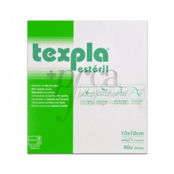 TEXPLA APOSITO TELA S/ TEJER ESTERIL 10X10CM 40U