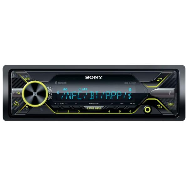 Sony dsx-a416bt receptor multimedia para coche con bluetooth nfc 4x55w pantalla lcd extrabass control por voz usb aux