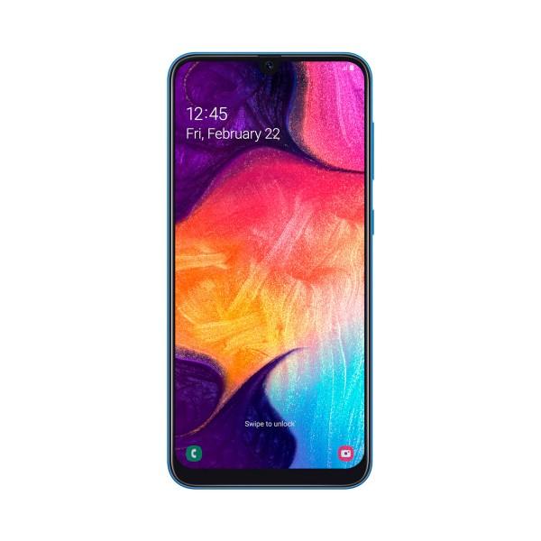 Samsung galaxy a50 azul móvil 4g dual sim 6.4'' super amoled fhd+/8core/128gb/4gb ram/25mp+5mp+8mp/25mp