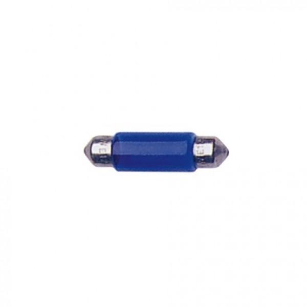 Lámparas Plafonier 12V T11X35 5W Sv8.5D Azul. Blist 2 Unidades