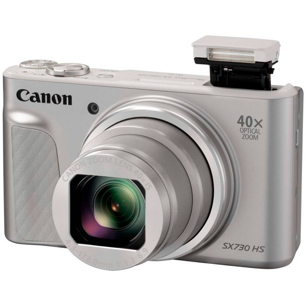 Canon powershot sx730 hs plata cámara de fotos digital compacta 20.3mp fhd zoom óptico estabilizador inteligente wifi bluetooth nfc