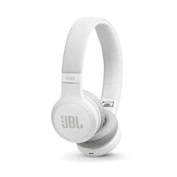 Jbl live 400 bt blanco auriculares on-ear inalámbricos bluetooth manos libres asistente de voz