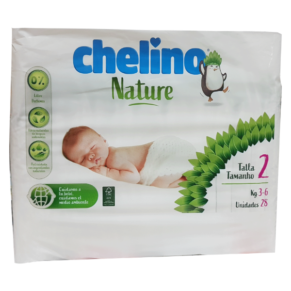 Chelino Nature Pañales T-2 3-6kg 28uds
