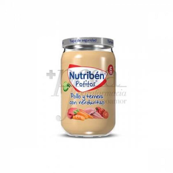NUTRIBEN POLLO Y TERNERA CON VERDURITAS 235 G