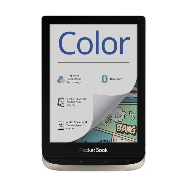 Pocketbook color moonsilver e-book libro electrónico 6'' táctil a color hd 16gb ranura microsd