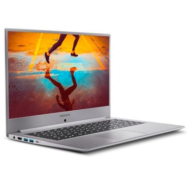 Medion s15449 akoya plata portátil 15.6'' fullhd i5-1135g7 512gb ssd 8gb ram windows 10 home