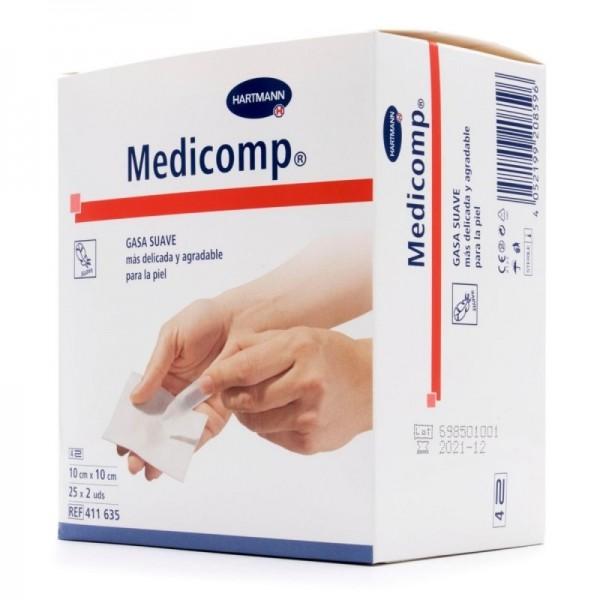 MEDICOMP COMPRESAS NON-WOVEN ESTERIL 10X10 CM 20 UDS HARTMNANN