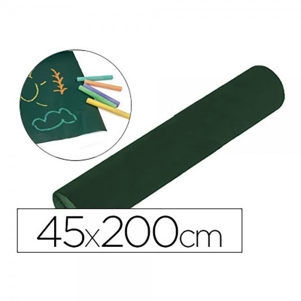Pizarra liderpapel  rollo adhesivo 45x200 cm para tiza color verde