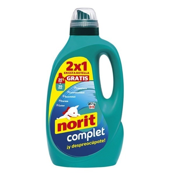 Norit Complet detergente 20 dosis + 20 dosis GRATIS